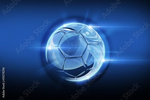 Photo  Glassy Soccer Ball