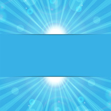 Abstract Background.sunbeams On A Blue Background.eco Background