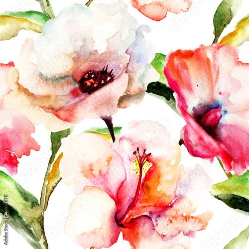 bezszwowa-tapeta-z-leluja-kwiatami