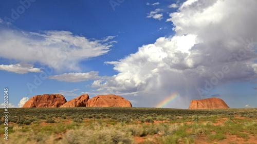 Keuken foto achterwand Baobab arc en ciel sur le painted desert ,Arizona