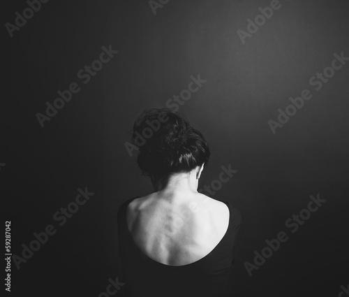 Fotografija  Спина молодой женщины