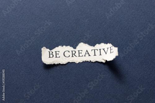 Fotografie, Obraz  Be creative