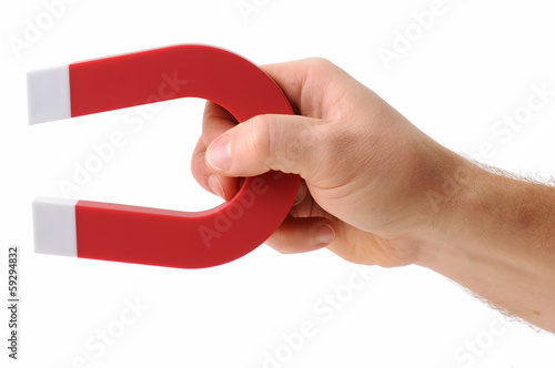 Foto  Holding a magnet