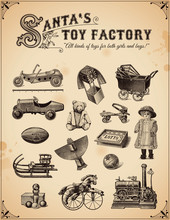 Collection Of Vintage Toys
