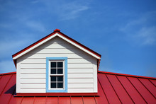 REd Roof Detail House