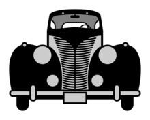 Retro Car, Vector Illustration