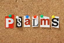 The Word Psalms On A Cork Notice Board