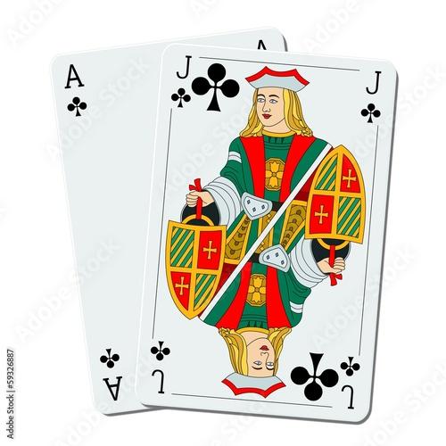 Blackjack – 21, ace & joker Poster