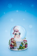 Snow globe christmas holiday background
