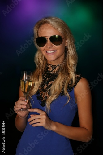 Photo  Gorgeous Young Woman at Party