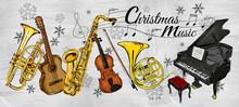 Christmas Music Instruments Pa...