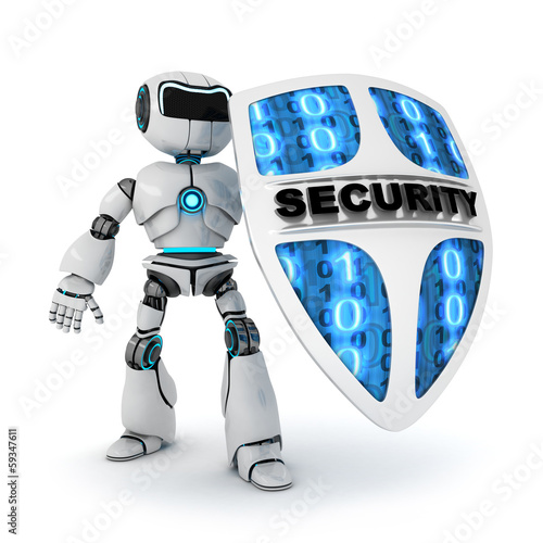 Photo  Robot and shield