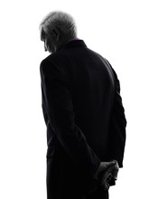Senior Business Man Sad Rear V...