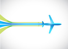 Airplane And Lines Illustration Design