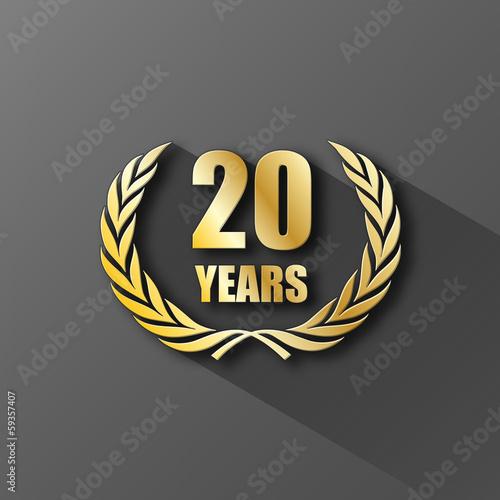 Fotografía  20 YEAR ANNIVERSARY Icon (twenty years wreath prize birthday)