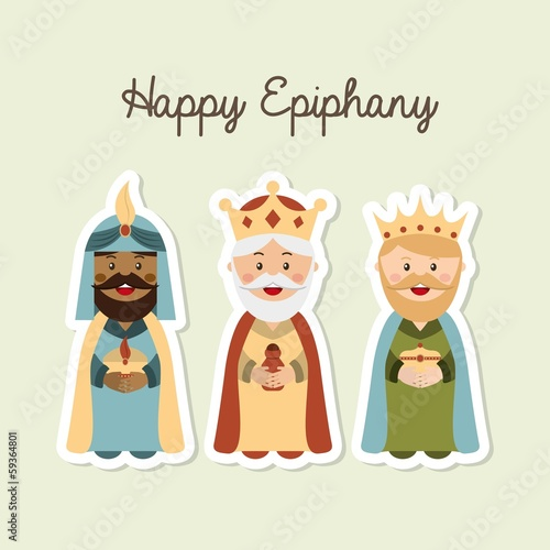 Canvas-taulu happy epiphany