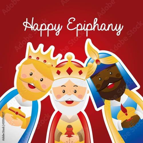 happy epiphany Canvas Print