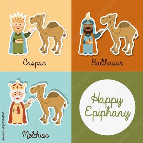 Leinwand Poster happy epiphany