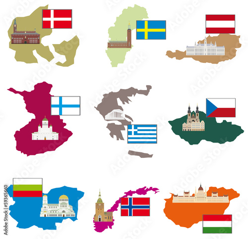 Photo  Flags and countries