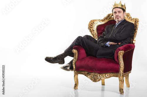 Valokuvatapetti Chef sieht sich als König