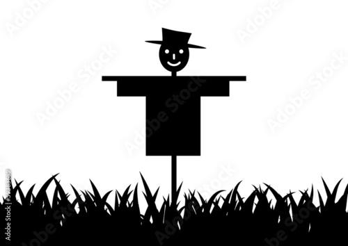 Scarecrow silhouette Canvas Print