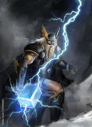 Photo  god of lightning thor