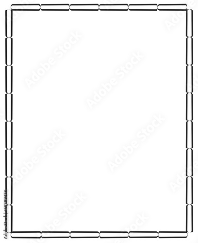 Vászonkép frame from the black patterns