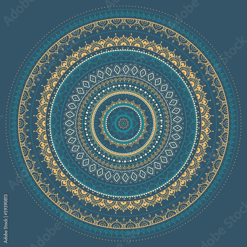 Mandala. Indyjski wzór dekoracyjny.