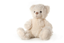 Fluffy Teddy Bear Isolated On ...