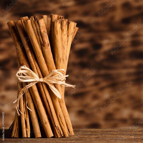 Fototapeta Bunch of Ceylon cinnamon obraz