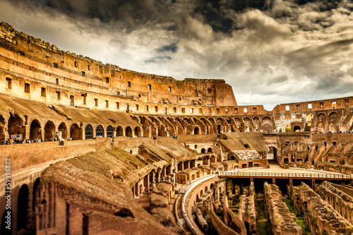 Inside of Colosseum in Rome, Italy Poster