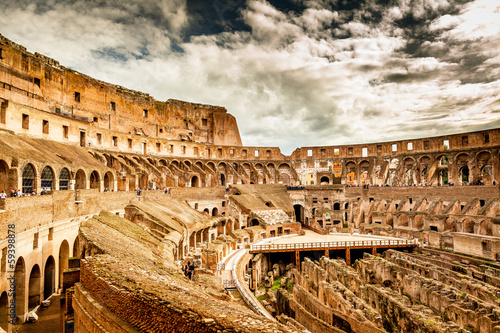Photo  Inside of Colosseum in Rome, Italy