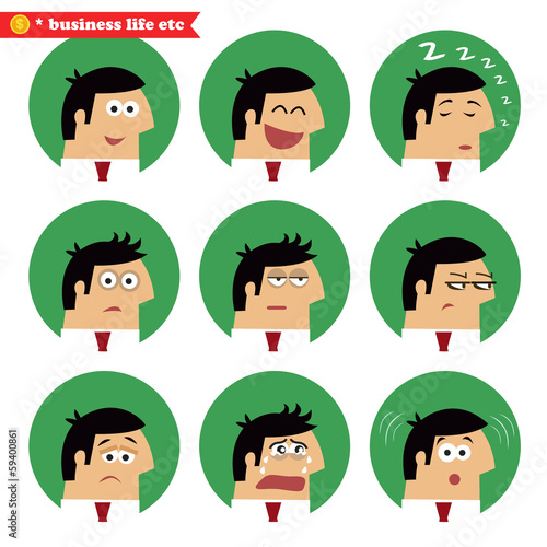 Business facial emotions Canvas-taulu