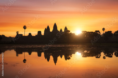 Papiers peints Orange Angkor Wat, Siem Reap, Cambodge