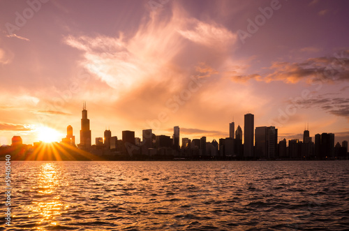 Poster Chicago Chicago city downtown urban skyline