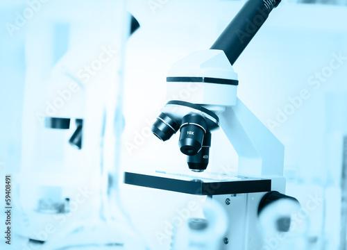 Fényképezés  Laboratory microscope lens.modern microscopes in a lab.