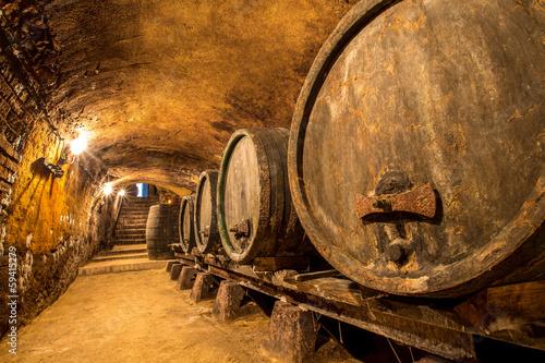 Alte Weinfässer Fototapeta
