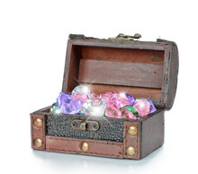 Gems In The Open Wooden Chest