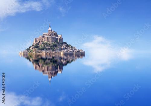 Le Mont Saint Michel Fotobehang