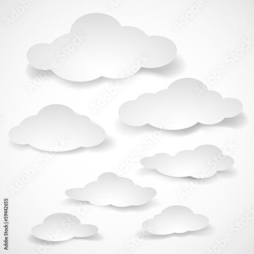Fotografie, Obraz  Paper clouds.