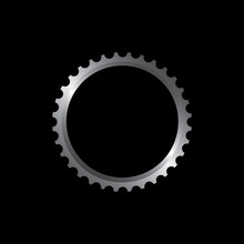 Vector Illustration Of Bicycle Gears For Chain