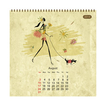 Girls Retro Calendar 2014 For ...