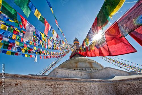 Poster Népal Boudhanath Stupa