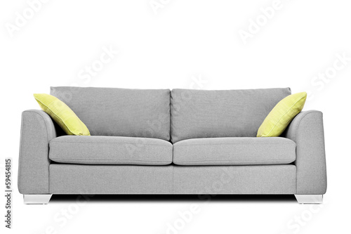 Fotografie, Obraz  Studio shot of a modern couch with pillows