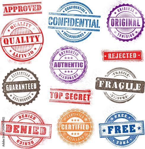Fotografía  Grunge Commercial Stamps Set2