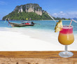 cocktail exotique sur plage de Tup Islands