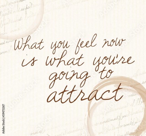 Photo  Positive affirmation of law of attraction