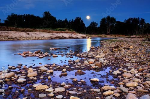Poster Natuur Moonrise over Yarramundi Australia