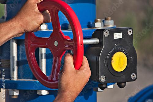Photo  Industrial valves