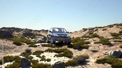 luksusowy-samochod-4x4-na-pustyni-w-czasie-wiosny-ilustrowany-3d